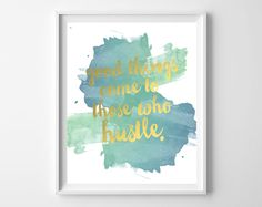 Happy Thursday, Lovelies! Today, I'm sharing one of my favorite quotes, in a gorgeous blue/green watercolor colorway! Just download here, print, and frame for art that's both beautiful …