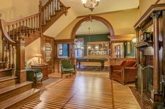 . A row house on Summit Avenue in St. Paul where F. Scott Fitzgerald once lived is up for sale. The three-story brownstone at 593 Summit was listed Tuesday for $665,000. The house was built in 1889 and has 4 bedrooms, 3 bathrooms and 3,441 square feet. (Photo courtesy of Mediaography)