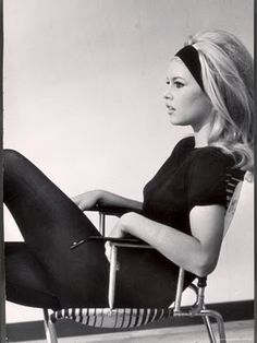 Bridget Bardot. Love the hair!