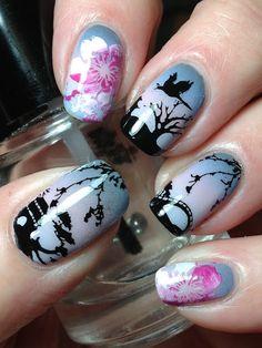 Cherry Blossom Nail Art!