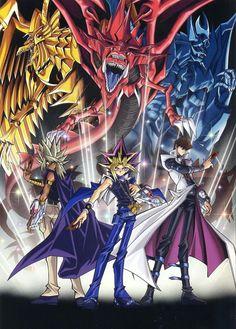 Yu-Gi-Oh! Duel Monsters - Malik Ishtar (Ra The Sun of God Dragon), Atem (Saint Dragon God of Osiris), and Seto Kaiba (The God of Obelisk) Kaiba Yugioh, Yugioh Yami, Yugioh Wallpaper, Desenho Yu Gi Oh, Digimon, Mago Anime, Obelisk The Tormentor, Yugioh Monsters, Yugioh Collection