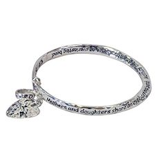 Amy Alder Mother Daughter Mobius Inspirational Bracelet celebrates your special relationship between a mother and daughter. Inscription starts: Mothers and daughters share an everlasting bond... These and more Mother Day gifts at GuyGifter.com