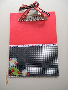 decorated clipboard & Decorated Clipboard | Paper Crafting | Pinterest | Decorated ...