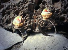 Ring Törtchen größenverstellbar Modeschmuck Ringe handgefertigt Metalllegierung