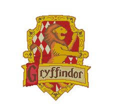 Gryffindor coat of arms - Cross stitch pattern PDF Instant Download