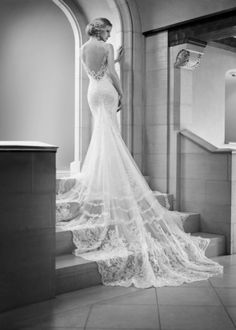 Style 675. The sexy 2015 Martina Liana #wedding #dress collection #lace #back #train #vintage