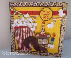 Popcorn Squirrel Birthday Card