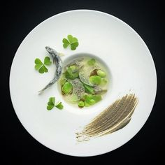 «Arguably one of the best restaurants in Singapore and Asia, chef Masahiro Isono of Iggy's, delivers this stunning, delicately plated dish, simply called… Modernist Cuisine, Molecular Gastronomy, Culinary Arts, Food Illustrations, Food Presentation, Food Plating, Food Design, Gourmet Recipes, Soup Recipes
