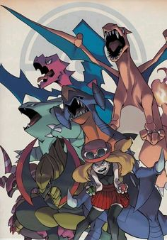 Serena e seus pokemons