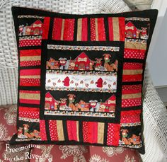 Doggy pillow with string piecing border