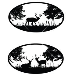 Graphic animal silhouettes vector