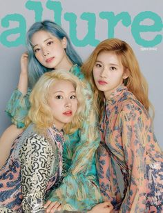 The members of TWICE dominated the cover of 'Allure' magazine. The girl group landed on the cover of the May issue. In time for the spring… Nayeon, K Pop, Kpop Girl Groups, Korean Girl Groups, Kpop Girls, Twice Dahyun, Tzuyu Twice, V Magazine, Beauty Magazine