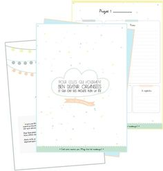 Un kit pour s'organiser - Diy Organisation Planner Organisation, Organization Bullet Journal, Agenda Planner, Happy Planner, Filofax, Bujo, Organized Mom, Planning And Organizing, Kit