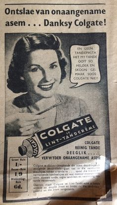 Colgate ad 1943 South Africa