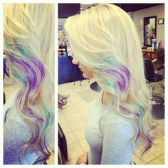 Hair with a touch of fun colors | Full head clip in human hair extensions | Prices start from £34.99 | Order Now to avail free worldwide delivery | Visit: www.cliphair.co.uk