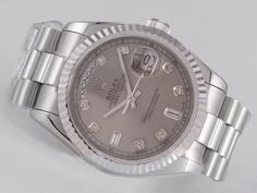 Rolex Day-Date Swiss ETA 2836 Sale Movement Gray Dial Diamond Marking
