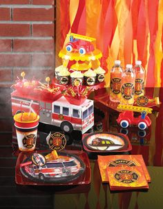 Firefighter Birthday Supplies! http://www.mypapershop.com/firefighter-themed-birthday-party-supplies.html