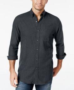 John Ashford Men's Long-Sleeve Herringbone Shirt, Only at Macy's | macys.com