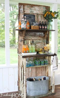 Cute! Turn a door into shelving!