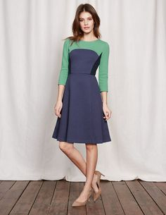 Curve & Flare Dress WW113 Dresses at Boden