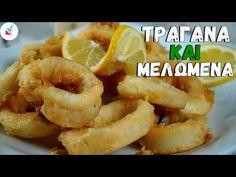 Πως Φτιαχνω Καλαμαρακια Τηγανιτα με Τραγανη Κρουστα και ΑΠΙΣΤΕΥΤΑ Μελωμενα Μεσα Οπως στις Ταβερνες - YouTube Onion Rings, Fish And Seafood, Tasty Dishes, Diy And Crafts, Appetizers, Menu, Ethnic Recipes, Shrimp, Youtube