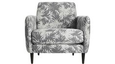 X The Hill-Side palm leaves parlour chair, $999, CB2 CAPTION