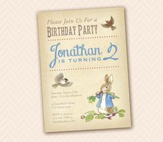 Beatrix Potter Inspired Peter Rabbit Party by LLPapergoods on Etsy, $12.00