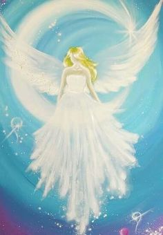 Limited angel art photo cosmic guardian angel by HenriettesART Angel Images, Angel Pictures, Top Paintings, Angel Paintings, Angel Artwork, Angel Drawing, I Believe In Angels, Moon Painting, Photo D Art