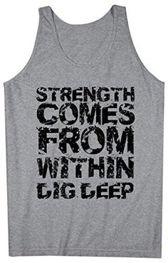 7504945e4e4eb Shirts By Sarah Men s Workout Tank Top Strength From Within Tanks Saying  Tops