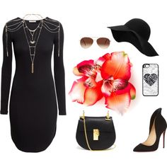 Untitled #243 by chilosa3325 on Polyvore featuring H&M, Christian Louboutin, Chloé, Topshop, MANGO and Eloquii