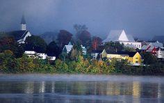 Mist On St. John River - Woodstock, New Brunswick