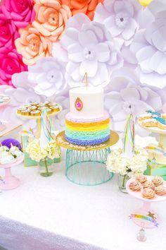 Cakescape from a Magical Unicorn Birthday Party on Kara's Party Ideas   KarasPartyIdeas.com (19)