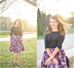 V popredí kvetovaná midi Floral, Skirts, Outfits, Fashion, Florals, Tall Clothing, Fashion Styles, Flowers, Skirt