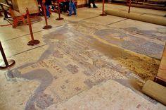 Madaba Mosaic Map, Church of St. George, Madaba, Jordan.   by Lemmo2009