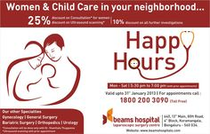 Join us during Happy Hours & get 25% discount on consultation for women & ultrasound scanning!