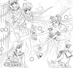"""""""Codename: Sailor V"""" - This is such a beautiful drawing, and it has become one of my favorites from the Sailor Moon series."""