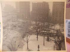 ORIG 1903 NEW YORK CITY NYC City Hall Station subway construction platinum photo