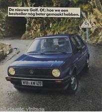 VOLKSWAGEN - Golf brochure/prospekt/folder Dutch 1983 | eBay