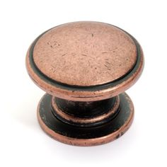 """The Dynasty K-80980-AC cabinet knob is a beautiful solid barrel cabinet knob. The solid metal knob is stunning in the antique copper finish. Blending perfectly with the popular Diversa Antique Copper European Bar Pulls. The round knob features a round base and is a stunning accent to kitchens cabinets, dressers, or vanities. Manufacturer: Dynasty Hardware MPN: K-80980-AC Color/Finish: Antique Copper Type: Knob Knob Diameter: 1-1/4"""" Projection: 1"""" Material: Zinc Alloy Mounting Hardware: 8/32 thre Black Cabinet Hardware, Cabinet And Drawer Knobs, Kitchen Hardware, Copper Cabinet Pulls, Dresser Knobs, Classic Cabinets, Black Cabinets, Furniture Knobs, Dining Furniture"""