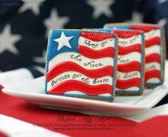 Patriotic cookies by Whisked Away Cookies