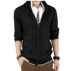 Najia Symbol Men's Full Zip-up Cardigan Sweaters Black/Grey QZ-109 http://smile.amazon.com/dp/B00HNLS7HM/ref=wl_it_dp_o_pC_nS_ttl?_encoding=UTF8&colid=NHQRQIS7WGZ3&coliid=I2MS9WGJ5VVFNS&psc=1