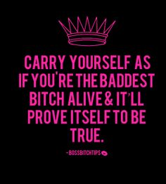 confidence inspiration bitch luxury pink girly self esteem Queen girl power glamorous tips fabulous glam bbt fab lux boss royalty self worth $$$ bad bitch self respect self love confident bossbitchtips boss bitch tips boss bitch bossy mafia empowerment bossy