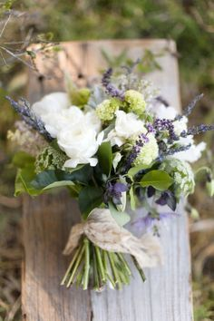 white bouquet with lavender - Google Search