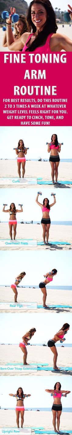 FINE TONING ARM ROUTINE. #armworkout #armtoning #armexercise #fitness #beachbody