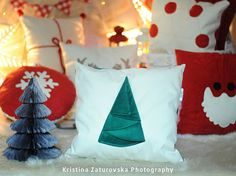 New year handcrafted decorative pillow covers made of by EJSIdsgn