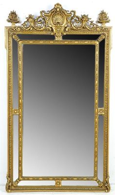 Morton Auctioneers & Appraisers - Full Details for Lot 54 Antique Frames, Old Frames, Trumeau Mirror, Mirror Mirror, Old Mirrors, Large Mirrors, Luis Xvi, Resource Furniture, Beautiful Mirrors