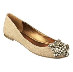 really want open toe-thought these looked like burlap and some sparkle