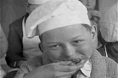 US National Archives vintage eating kid wink GIF