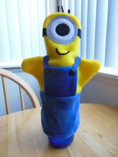Hey, I found this really awesome Etsy listing at https://www.etsy.com/listing/196510096/minion-hand-puppet-despicable-me-hand