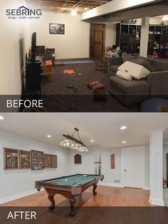 Elmhurst Basement Remodeling Project Pictures Before And After Pictures    Sebring Design Build Basement Workout Room